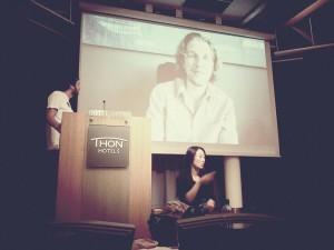 Matt Mullenweg addressing the crowd at WordCamp Norway 2012. Photo Cred: Vegard Skjefstad